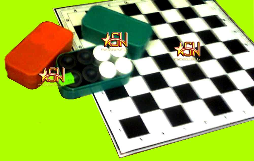 Galda spēles Dambrete kartona virsma