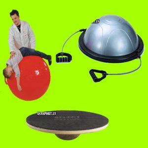 **Līdzsvara, kustību trenažieri, pussfēras, fitnesa bumbas, statīvi
