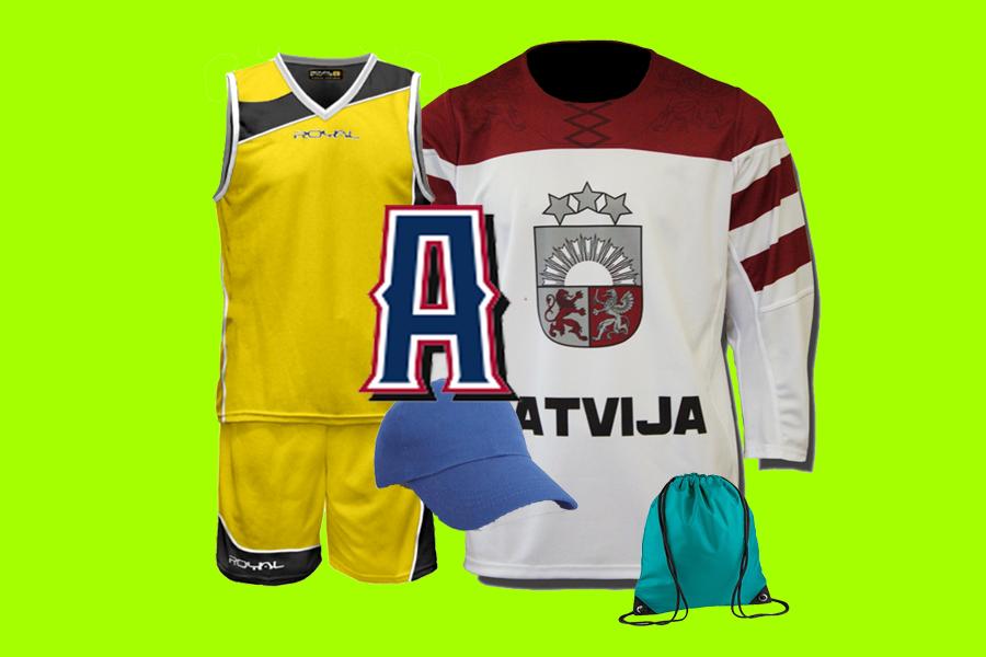 APDRUKĀT Sporta formu, Fanu kreklu, cepuri ...