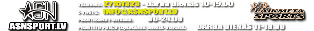 Sporta preču I-veikals ASNSPORT.LV, sporta formas, T-krekla un fanu krekla apdruka, trenažieri; ADRUKA.LV