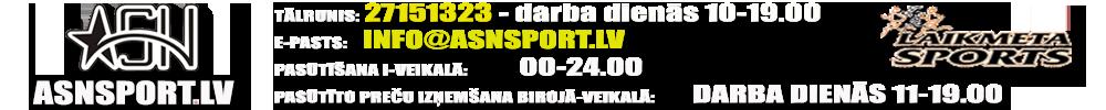 Sporta preču I-veikals ASNSPORT.LV, sporta formas, apdruka, basketbola grozi, futbola vārti, trenažieri